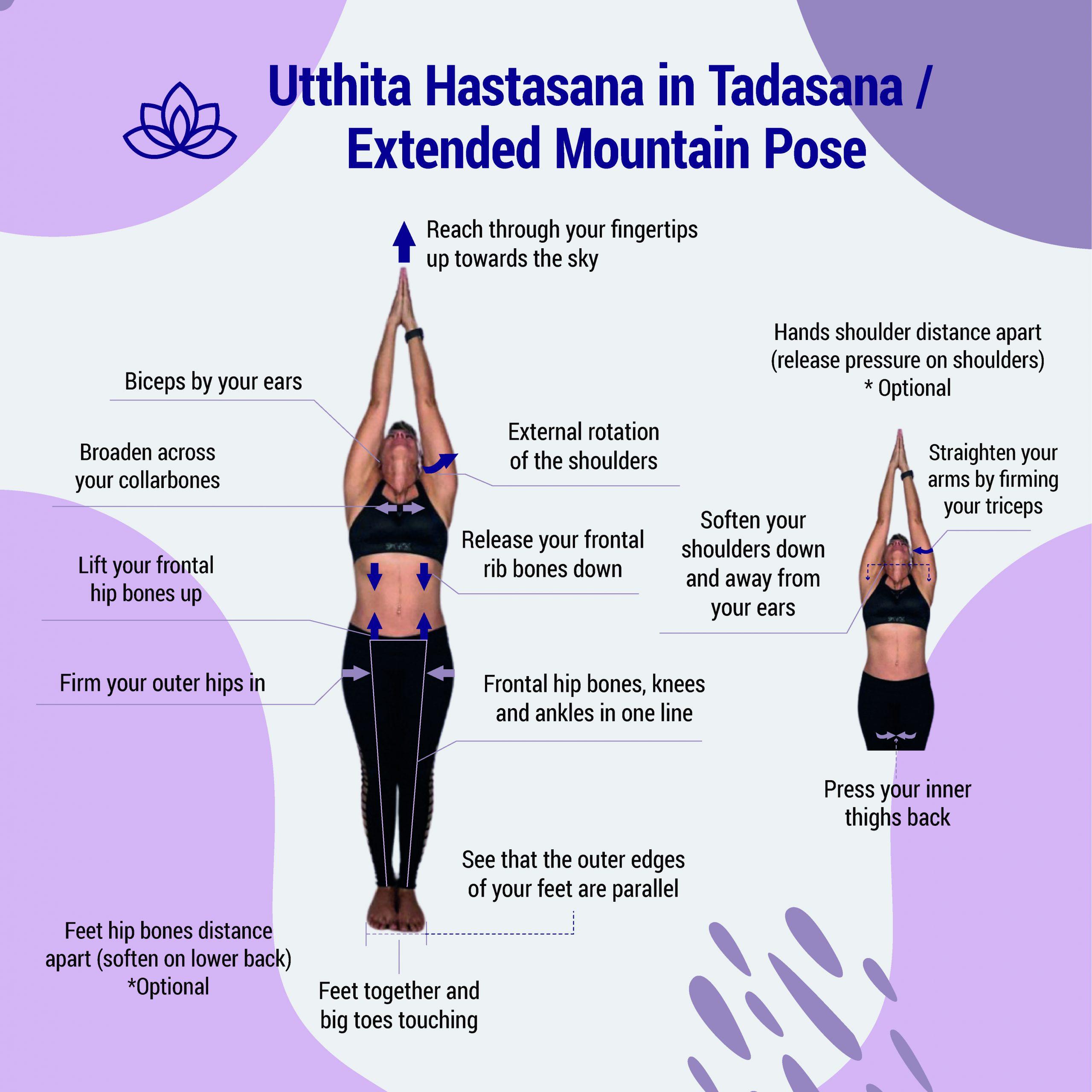 Utthita Hastasana in Tadasana Front JTY