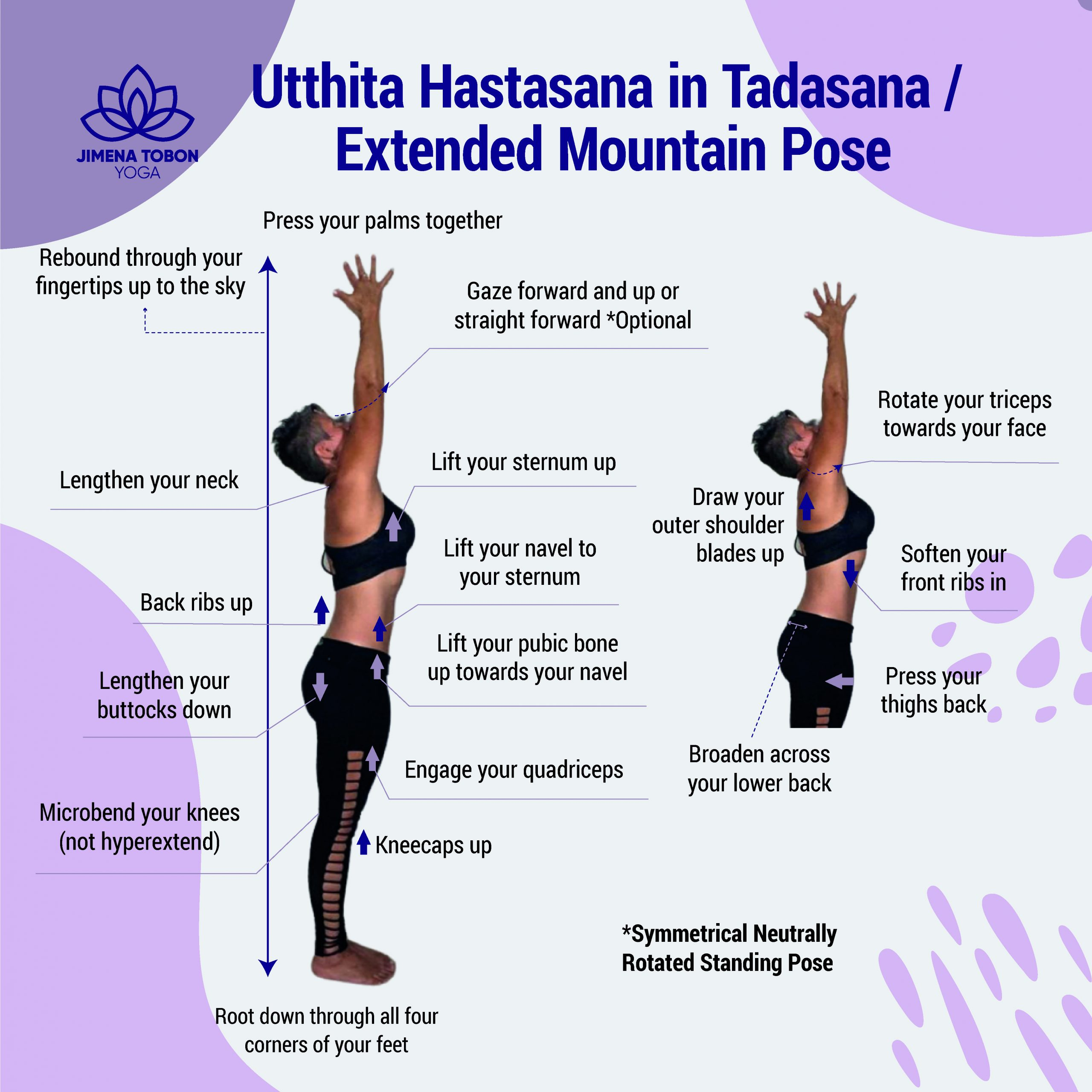 Utthita Hastasana in Tadasana JTY
